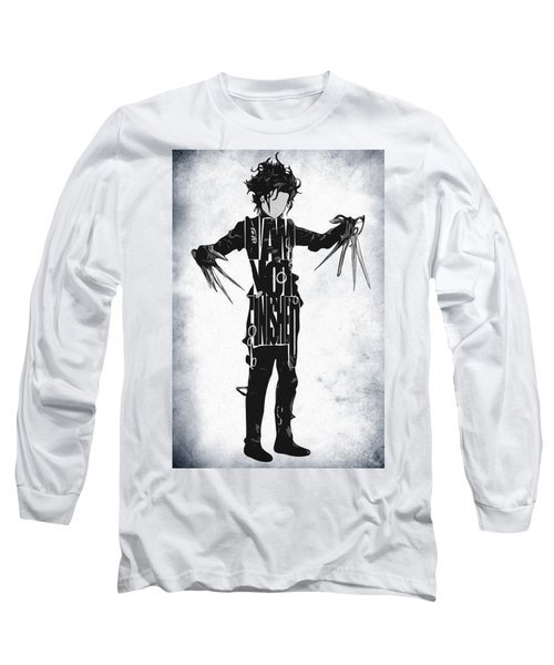 Edward Scissorhands - Johnny Depp Long Sleeve T-Shirt by Ayse Deniz