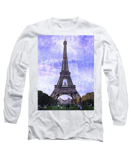 Long Sleeve T-Shirt featuring the photograph Eiffel Tower Paris by Kathy Churchman