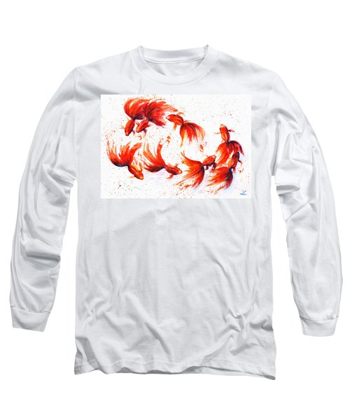 Eight Dancing Goldfish  Long Sleeve T-Shirt