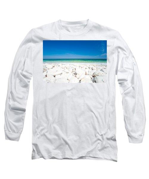 Elba - Capo Bianco  Long Sleeve T-Shirt by Luciano Mortula