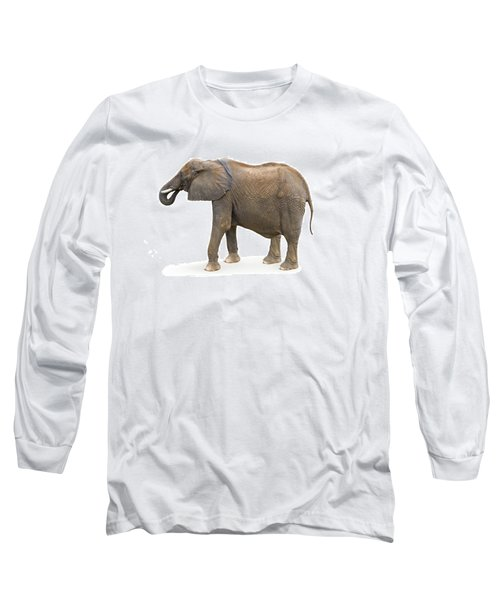 Long Sleeve T-Shirt featuring the photograph Elephant by Charles Beeler