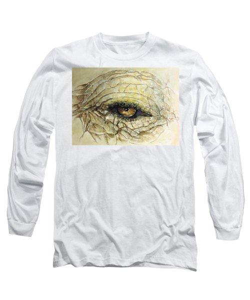 Elephant Eye Long Sleeve T-Shirt by Bernadette Krupa