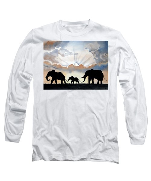 Elephants Long Sleeve T-Shirt