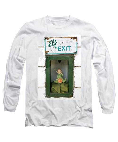 elf exit, Dubuque, Iowa Long Sleeve T-Shirt
