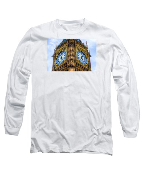 Long Sleeve T-Shirt featuring the photograph Elizabeth Tower Clock by Tim Stanley