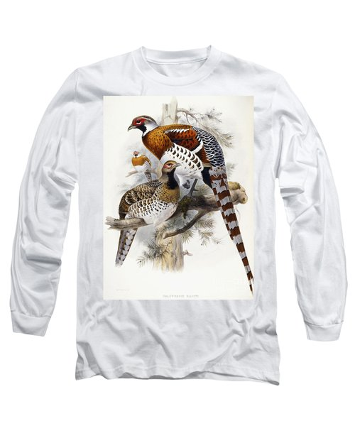 Elliot's Pheasant Long Sleeve T-Shirt by Joseph Wolf