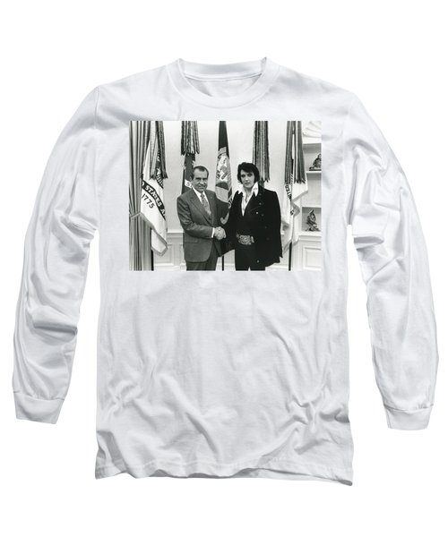 Elvis And Nixon Long Sleeve T-Shirt by Unknown