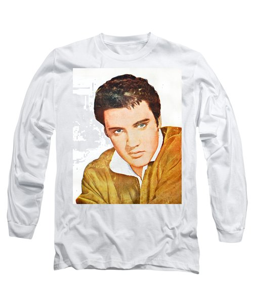 Elvis Colored Portrait Long Sleeve T-Shirt