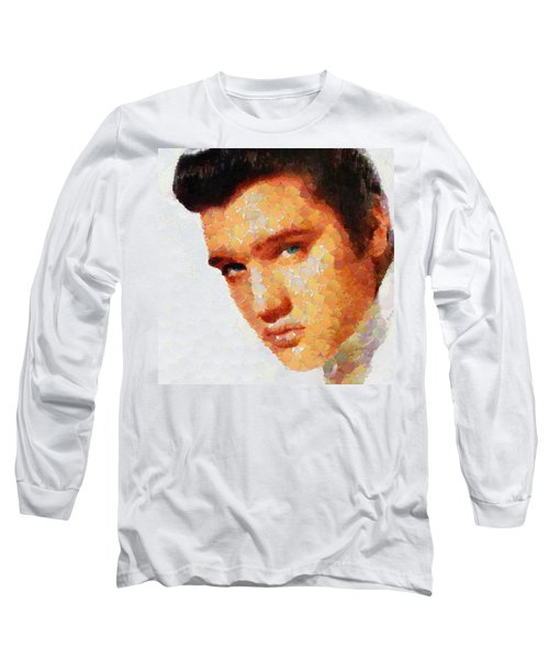 Elvis Presley The King Of Rock Music Long Sleeve T-Shirt by Georgi Dimitrov