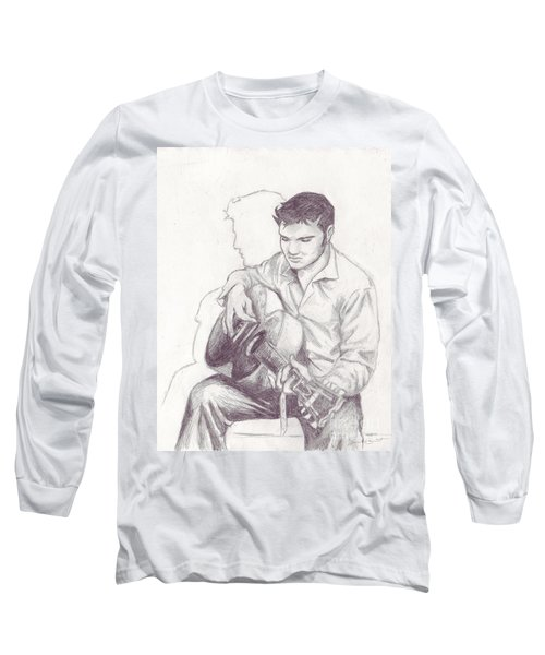 Elvis Sketch Long Sleeve T-Shirt by Samantha Geernaert