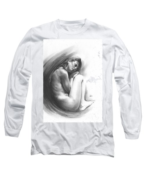 Long Sleeve T-Shirt featuring the drawing Embryonic 1 by Paul Davenport