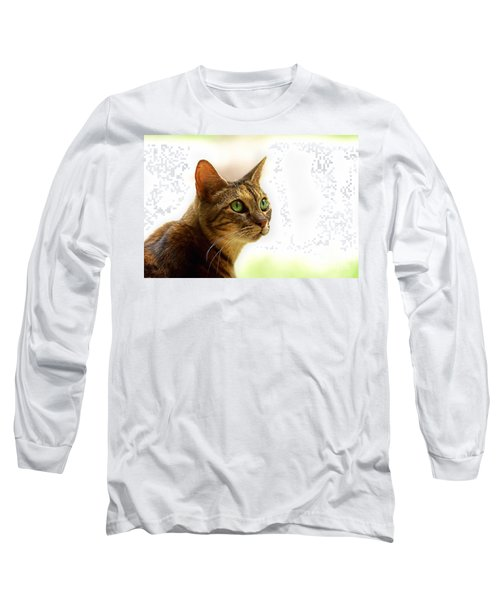 Long Sleeve T-Shirt featuring the photograph Emerald Eyes by Olga Hamilton