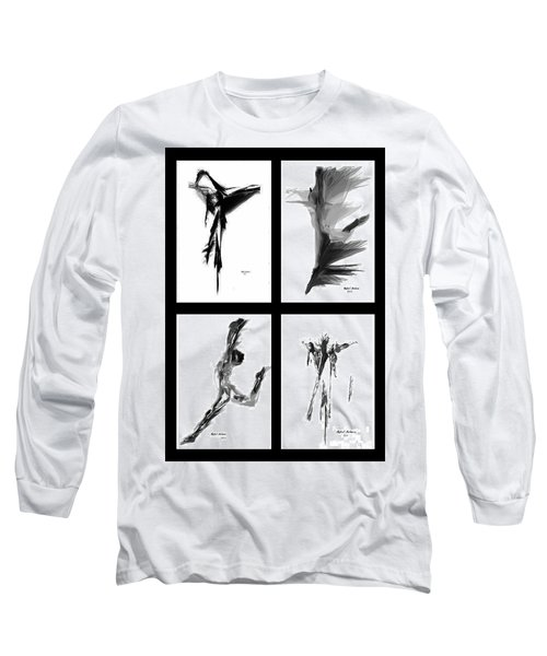 Emotions In Black - Abstract Quad Long Sleeve T-Shirt