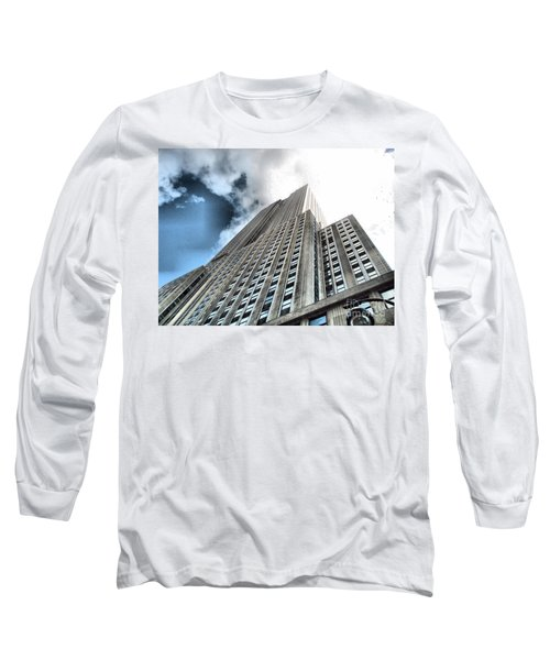 Empire State Building - Vertigo In Reverse Long Sleeve T-Shirt
