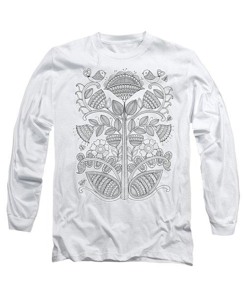 Emroidery Pattern 1 Long Sleeve T-Shirt