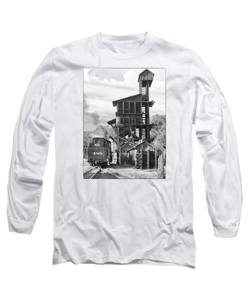 Engine 488 At The Tipple Long Sleeve T-Shirt by Shelly Gunderson
