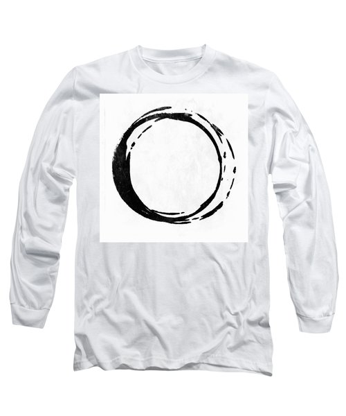 Enso No. 107 Black On White Long Sleeve T-Shirt