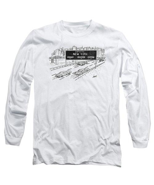 Entering New York: Beginner Long Sleeve T-Shirt