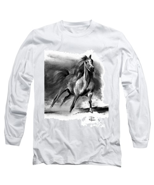 Equine II Long Sleeve T-Shirt by Paul Davenport