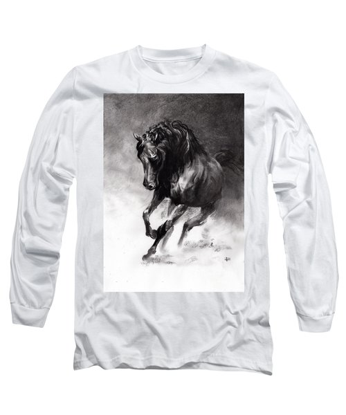 Equine Long Sleeve T-Shirt by Paul Davenport