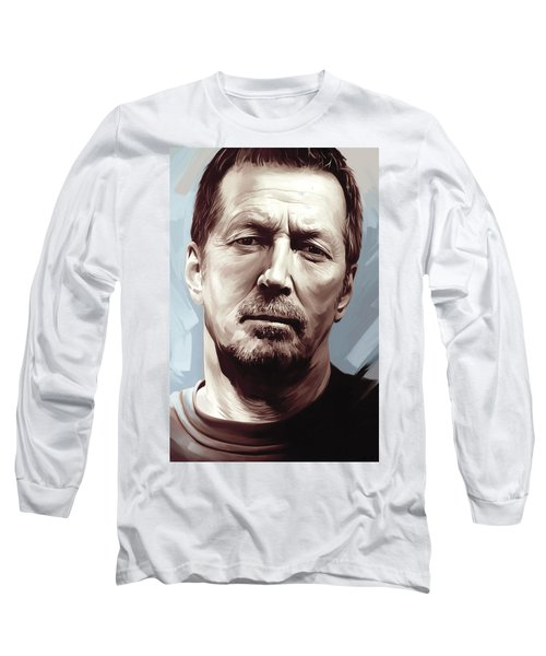 Eric Clapton Artwork Long Sleeve T-Shirt by Sheraz A