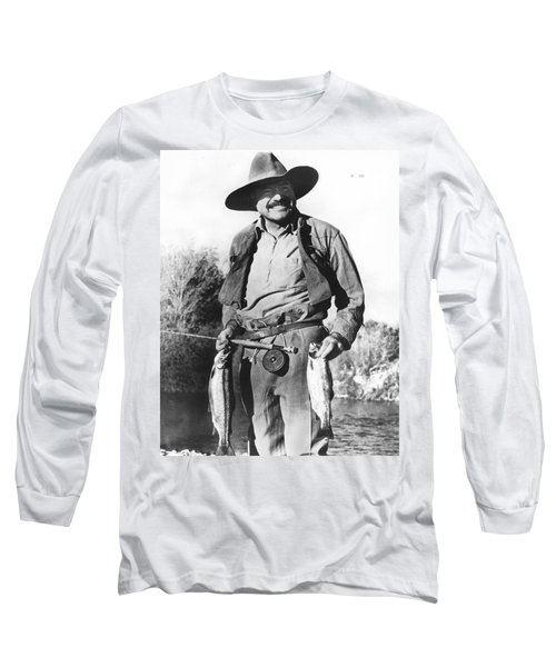 Ernest Hemingway Fishing Long Sleeve T-Shirt
