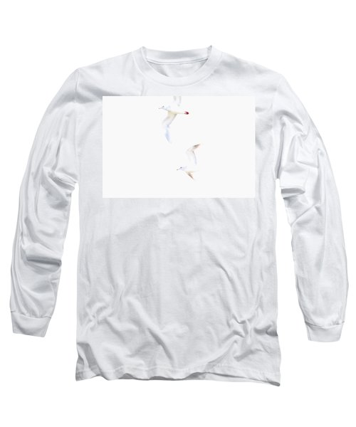 Long Sleeve T-Shirt featuring the photograph Ethereal Gulls by Peggy Collins