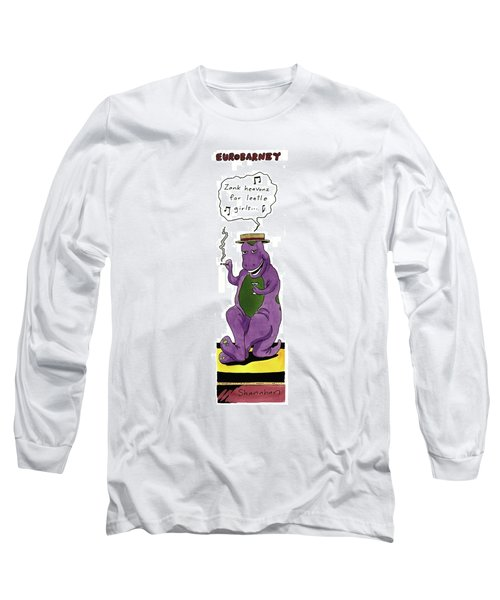 Eurobarney 'zank Heavonz For Leetle Girls . . .' Long Sleeve T-Shirt