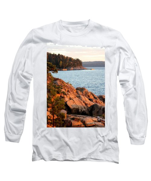 Evening Sun By The Waterfront Long Sleeve T-Shirt