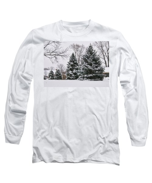 Evergreens In The Snow Long Sleeve T-Shirt
