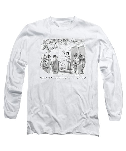 Everybody In!  We Have Videotapes Of The First Long Sleeve T-Shirt