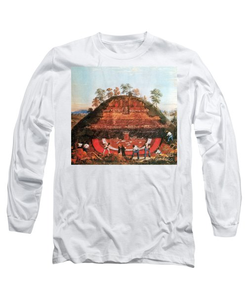 Excavation Of Indian Mound, 1850 Long Sleeve T-Shirt