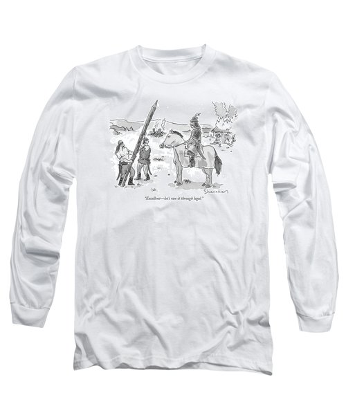 Excellent - Let's Run It Through Legal Long Sleeve T-Shirt