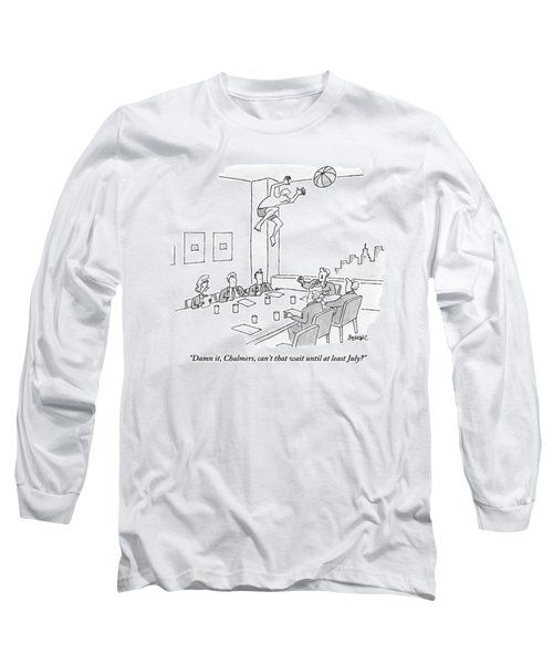 Executives Sitting Around A Conference Table Long Sleeve T-Shirt