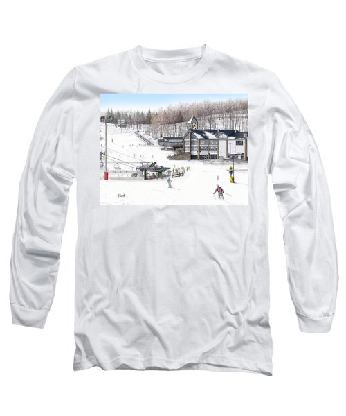 Long Sleeve T-Shirt featuring the painting Experience Hidden Valley by Albert Puskaric