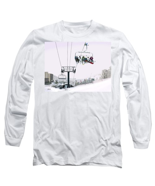 Long Sleeve T-Shirt featuring the painting Experience Seven Springs by Albert Puskaric