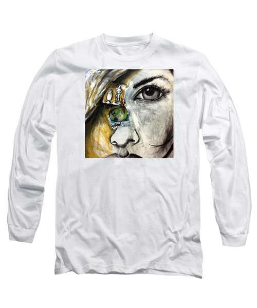Face To Face Long Sleeve T-Shirt by Helen Syron