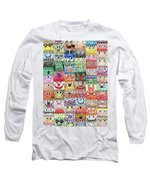 Faces Puzzle Poster Long Sleeve T-Shirt