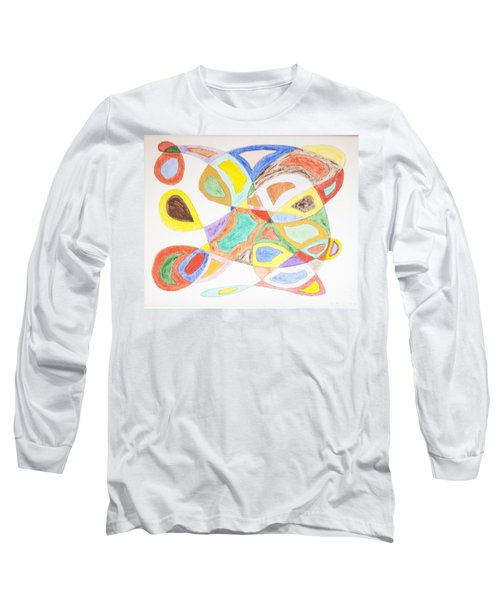 Long Sleeve T-Shirt featuring the painting Masks by Stormm Bradshaw