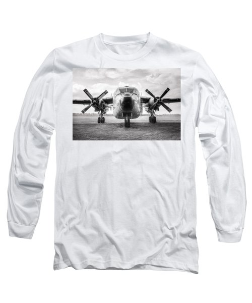Long Sleeve T-Shirt featuring the photograph Fairchild C-119 Flying Boxcar - Military Transport by Gary Heller
