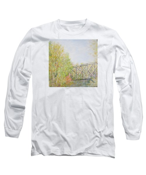 Fall Foliage And Bridge In Nh Long Sleeve T-Shirt