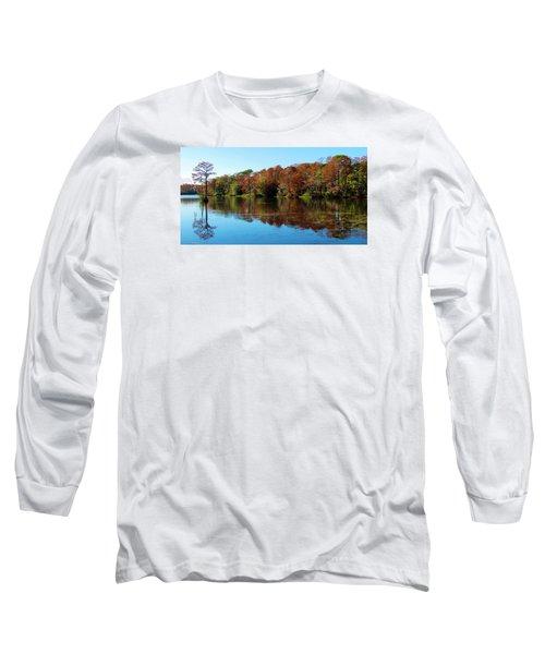 Fall In The Air Long Sleeve T-Shirt by Cynthia Guinn