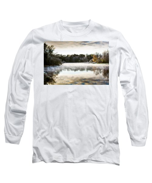 Fall Scene On The Mississippi Long Sleeve T-Shirt