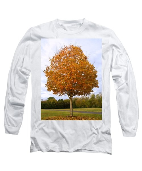 Fall Sugar Maple Long Sleeve T-Shirt by Melinda Fawver