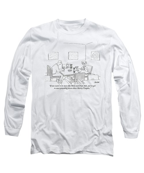 Family Around Table Long Sleeve T-Shirt