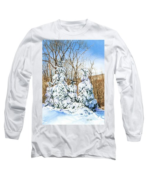 Family Of Four Trailside At 7 Springs Long Sleeve T-Shirt by Barbara Jewell