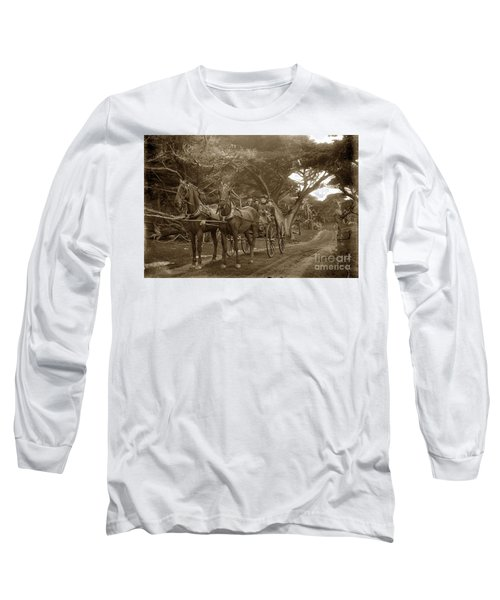 Family Out Carriage Ride On The 17 Mile Drive In Pebble Beach Circa 1895 Long Sleeve T-Shirt