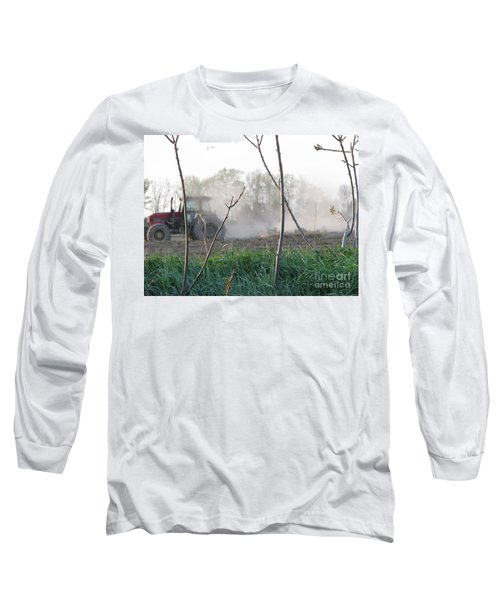 Long Sleeve T-Shirt featuring the photograph Farm Life  by Michael Krek