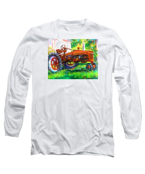 Farmall Tractor Long Sleeve T-Shirt by Les Leffingwell