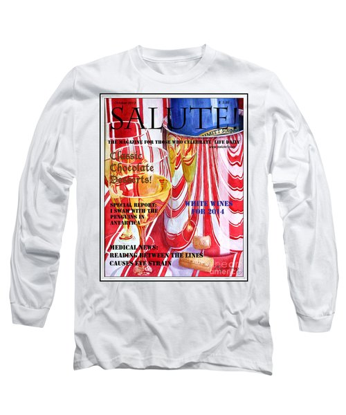 Long Sleeve T-Shirt featuring the painting Faux Magazine Cover by Mariarosa Rockefeller